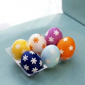 Masking-Tape-Shapes Easter Eggs