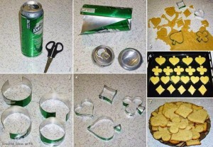 your own cookie cutter from Soda cann