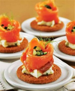 Salmon Flower Dishes